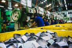 Фабрика с машинами Стоковые Фотографии RF