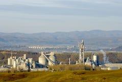 фабрика цемента промышленная Стоковое Фото