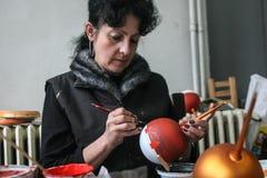 Фабрика шариков рождества Стоковые Изображения