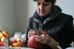 Фабрика шариков рождества Стоковое Фото
