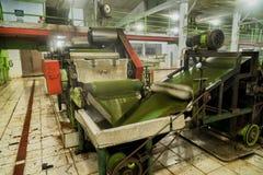 Фабрика для обрабатывать зеленый чай, Ява, Индонезию Стоковое фото RF