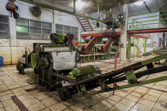 Фабрика для обрабатывать зеленый чай, Ява, Индонезию стоковые изображения