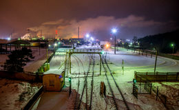 Фабрика Jonava Achema Стоковые Изображения RF