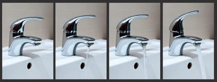 фазирует воду из крана Стоковое Изображение