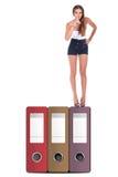 фаил документа делая женщину верхней части безмолвия знака Стоковое Фото