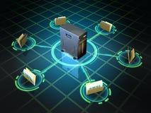 файловый сервер Стоковые Фотографии RF