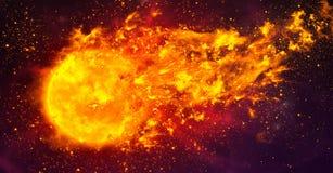Файрбол в космосе Стоковое фото RF