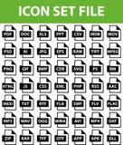 Файл значка установленный Стоковая Фотография RF