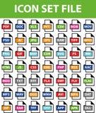 Файл значка установленный Стоковые Фотографии RF