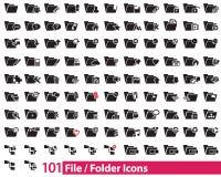 101 файл и иллюстратор значков папки Иллюстрация штока