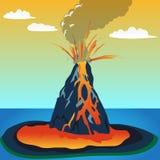 Файл назначения: Извержение вулкана Стоковое Фото