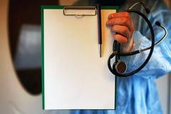 Файл стетоскопа кардиолога доктора Стоковые Изображения RF