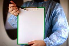 Файл стетоскопа кардиолога доктора Стоковое Фото
