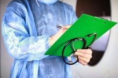 Файл стетоскопа кардиолога доктора Стоковое Изображение