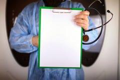 Файл стетоскопа кардиолога доктора Стоковая Фотография RF