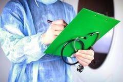 Файл стетоскопа кардиолога доктора Стоковые Фото
