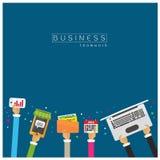 Файлы вектора установленные, документы, календарь, маркетинг тетради, онлайн st Стоковая Фотография