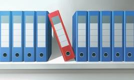 Файлы в офисе Стоковое Изображение