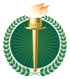 факел лавров золота зеленый Стоковые Изображения RF