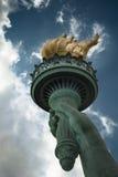Факел статуи свободы Стоковое фото RF