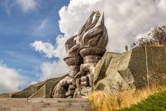 Факелы в памятнике коммуниста Buzludzha Стоковая Фотография