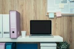 факс дела посылая место для работы Стоковое Фото