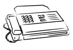 факс Стоковые Фотографии RF