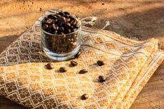 Факторизующ, древесина, керамика, кофейные зерна, ткани, текстуры, cott Стоковые Изображения