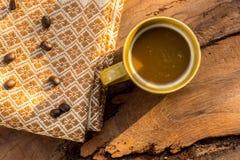 Факторизующ, древесина, керамика, кофейные зерна, ткани, текстуры, cott Стоковое Изображение RF