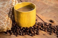 Факторизующ, древесина, керамика, кофейные зерна, ткани, текстуры, cott Стоковое Фото