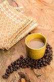 Факторизующ, древесина, керамика, кофейные зерна, ткани, текстуры, cott Стоковая Фотография