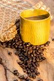 Факторизующ, древесина, керамика, кофейные зерна, ткани, текстуры, cott Стоковые Фото