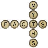 Факты и кроссворд мифов Стоковое фото RF