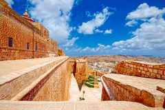 Фальшборт Виктории, Инфракрасн-Рабат, Gozo, Мальта стоковые фото
