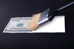 фальшивка доллара стоковая фотография