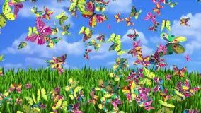 Фантазия бабочек иллюстрация штока