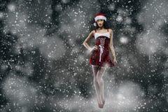 Фантазия девушки Санты стоковая фотография