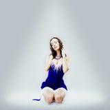 Фантазия девушки снега стоковое изображение rf