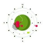 Фантазия иллюстрации чайника Стоковые Изображения RF