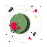 Фантазия иллюстрации чайника Стоковое Изображение