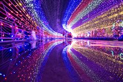 Фантазия света Kota Kinabalu стоковые изображения rf