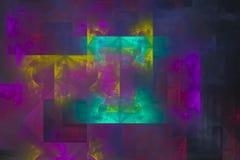Фантазия, фракталь, картины космоса gl текстуры красочное творческой живое, предпосылка фейерверка зарева современная, энергия te бесплатная иллюстрация