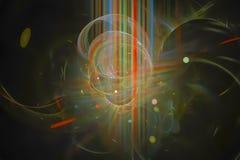 Фантазия, фракталь, творческий космос, предпосылка фейерверка зарева современная, энергия templaterendering иллюстрация вектора