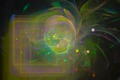 Фантазия, фракталь, творческий космос, современная предпосылка, энергия templaterendering иллюстрация вектора
