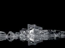 Фантазия льда на черноте стоковая фотография rf