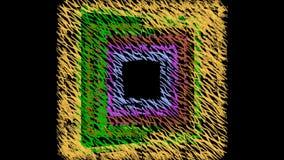 Фантазия doodle Grunge пестротканая, квадраты doodle в вертикальном вращении, абстрактный компьютер произвела предпосылку иллюстрация вектора