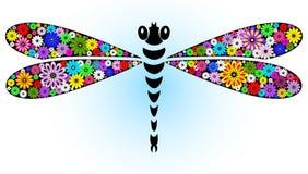 фантазия dragonfly яркая Стоковое Изображение