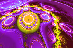 Фантастическая абстрактная картина походя цветок чужеземца Стоковое фото RF