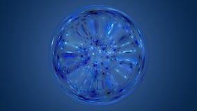 Фантастическая анимация с накаляя светлой сферой в движении, петле HD 1080p иллюстрация штока
