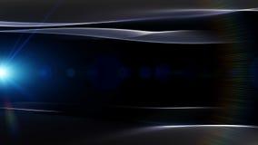 Фантастическая анимация с объектом волны и светом, петлей HD 1080p иллюстрация штока